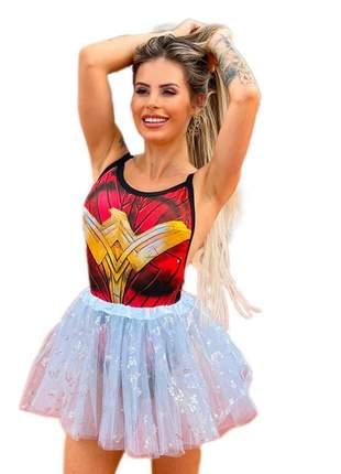 Body super herois super girl festa fantasia carnaval mulher maravilha 2
