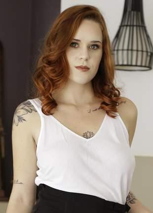 Blusa de alça feminina branca