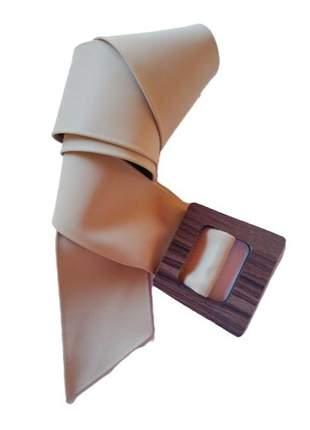 Cinto feminino faixa couro sintetico largo moda blogueira