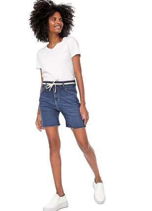 Short bloom jeans jogger com cinto