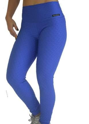 Calça legging fuso azul
