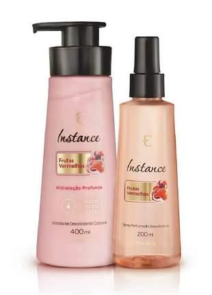 Kit eudora instance frutas vermelhas hidratante + desodorante perfumado