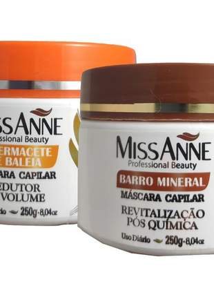 Mascara barro mineral e espermacete miss anne 250g 02 unidades
