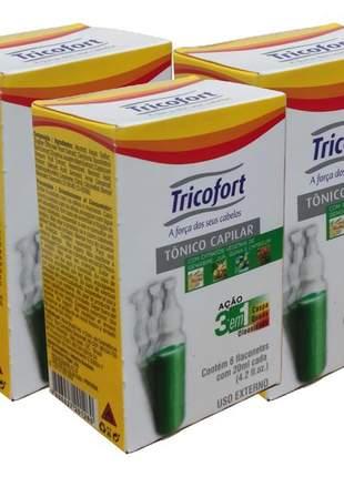 03 caixas de tricofort ação 03 em 01 com 06 ampolas cada