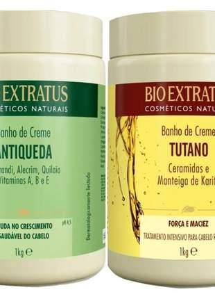 Bio extratus máscara 1kg antiqueda jaborandi + tutano banho de creme 02 unidades