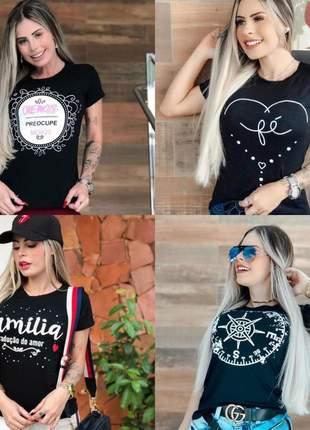 Compre 3 tshirts e leve  4  kit com 4 tshirts - pague 3 leve a 4° grátis