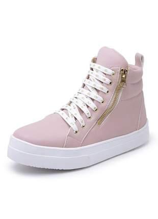 Tênis sneaker feminino rosa