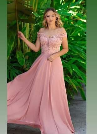 Vestido longo de festa luxuoso