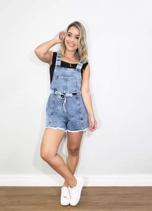 Jardineira jeans linda