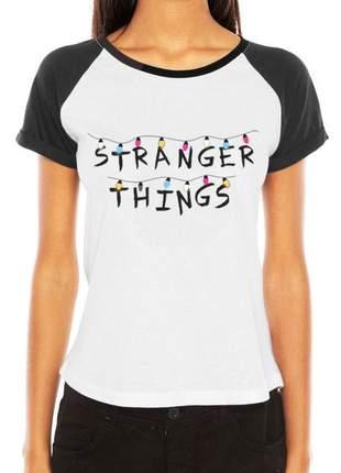 Camiseta feminina blusa stranger things série tumblr seriado