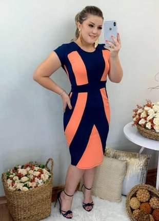 Vestido moda evangélica multicolor ref 612
