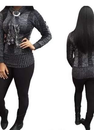 Blusa de frio modelo veste leg tricot trico cacharrel