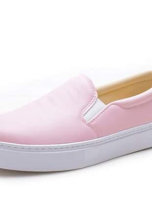Tênis slip on sapatilha cores lindas confortável para o seu dia a dia