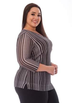 Blusa plus size tricot