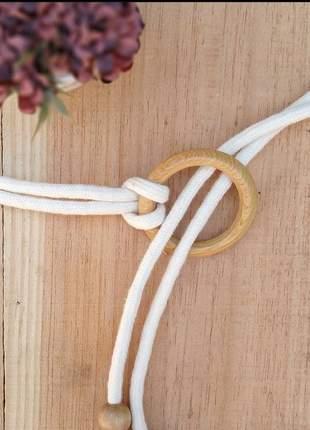 Cinto cordão madeira