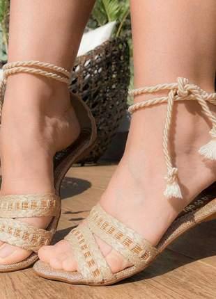 Sandália rasteira rasteirinha salto baixo barata amarrar lindos modelos 1222