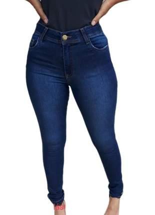 Calça jeans cigarrete feminina revanche com elástico no cós