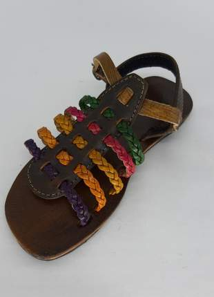 Sandália romana colorida