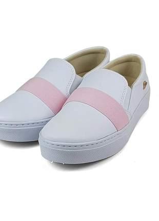 Promoção a pronta entrega tênis slip on sapatenis elástico rosa super confortável