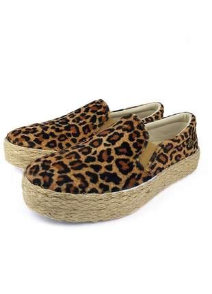 Promoção a pronta entrega tênis sapatinha slip on onça animal print lindo e confortável