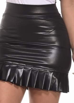 Mini saia cirre babado babadinho colada balada festa curta