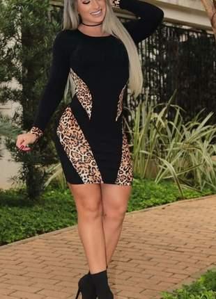 Vestido malha crepe