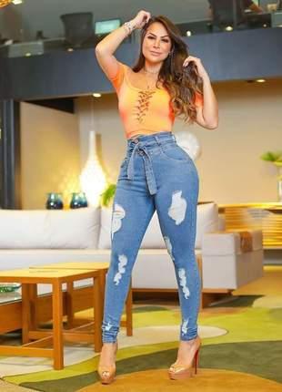 😍 calça jeans clochard -