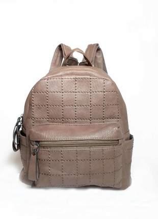 Bolsa bag mochila ticiana marrom - bolsa feminina tipo mochila em couro ecológico