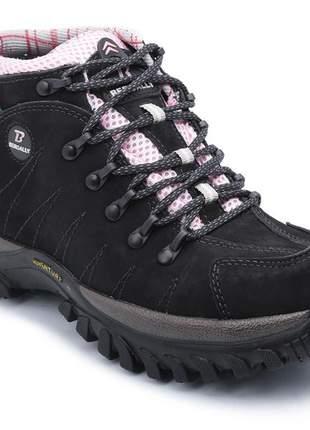 Compartilhar:  bota coturno adventure feminino em couro 100% legitimo bergally