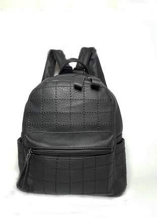 Bolsa bag mochila ticiana preta - bolsa feminina tipo mochila em couro ecológico