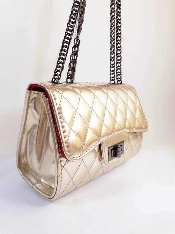 9a13b6f7a Bolsa bag carina dourada - bolsa feminina, de ombro, para festas e eventos1  ...