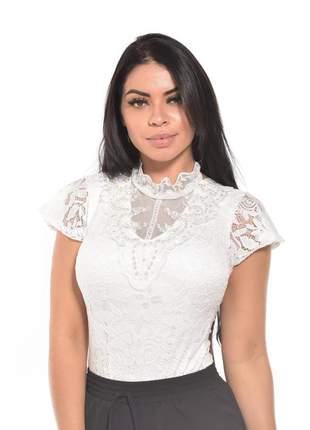 Body feminino decote renda pérola perolado bordado bojo preto branco