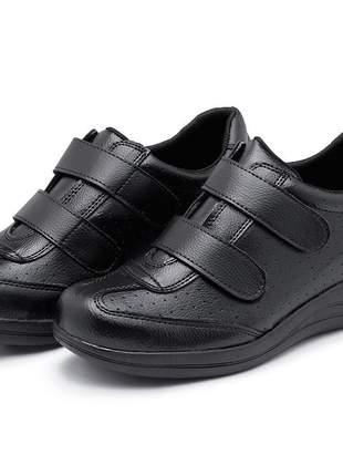 Sapato tênis sapatênis ortopédico confortável velcro