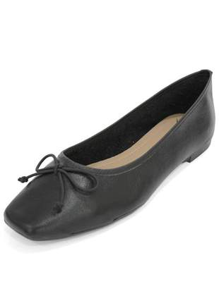 Sapatilha couro dali shoes bailarina preta