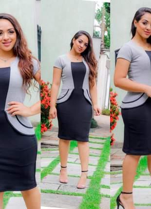 Vestido feminino moda evangélica executivo qualidade promoção