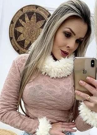 Cropped em tricot modal