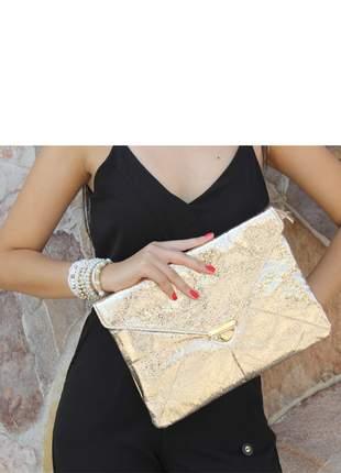 Bolsa carteira solange dourada para festas casamentos