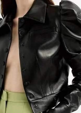 Jaqueta de couro ecologico