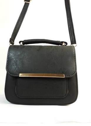 Bolsa bag daniela preta - bolsa feminina, de mão e tiracolo, casual e festa