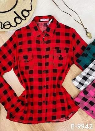 😍 camisa xadrez