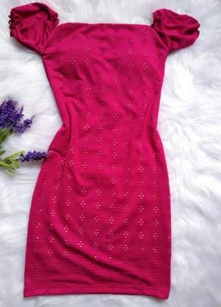 Vestido ciganinha pink confortável