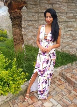 Vestido florido violeta