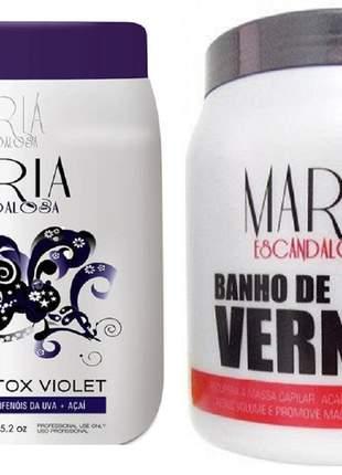 Botox capilar violet + banho de verniz 1kg maria escandalosa