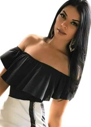 Body blusa com babado bojo feminina ombro a ombro ciganinha blusa feminina