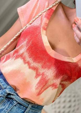 Podrinha estampa tie dye