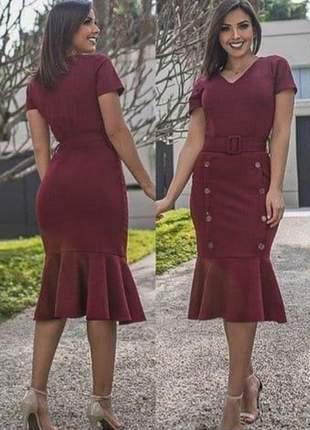 Vestido moda evangélica social ref 741
