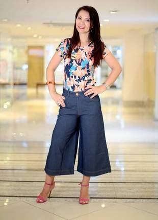 Calça pantacurt jeans