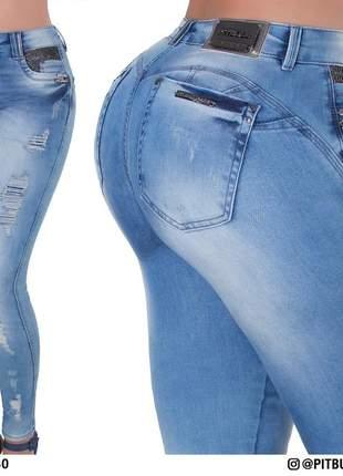 06af9875b Calça jeans cigarrete strass pit bull - R  299.90  14276