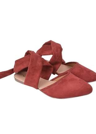 Sapatilha sapato bico fino feminina