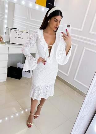 Vestido branco off white casamento civil noivado